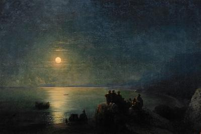 Ancient Greek Poets by the Water's Edge in the Moonlight, 1886-Ivan Konstantinovich Aivazovsky-Giclee Print