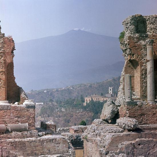 Ancient Greek theatre in Sicily, 1st century. Artist: Unknown-Unknown-Photographic Print