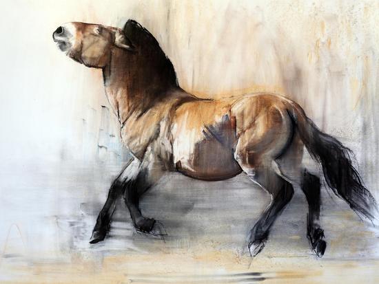 Ancient Horse (Przewalski in winter), 2014-Mark Adlington-Giclee Print