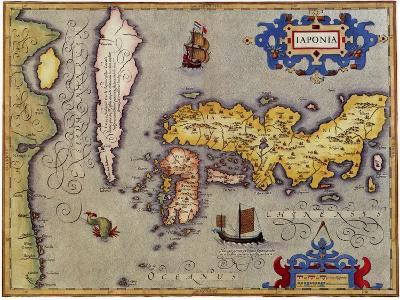 Ancient Map Of Japan.Ancient Map Of Japan 1606 Giclee Print By Jodocus Hondius Art Com