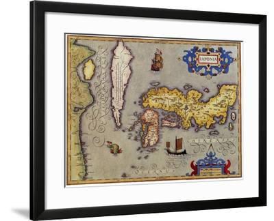 Ancient Map of Japan 1606-Jodocus Hondius-Framed Giclee Print