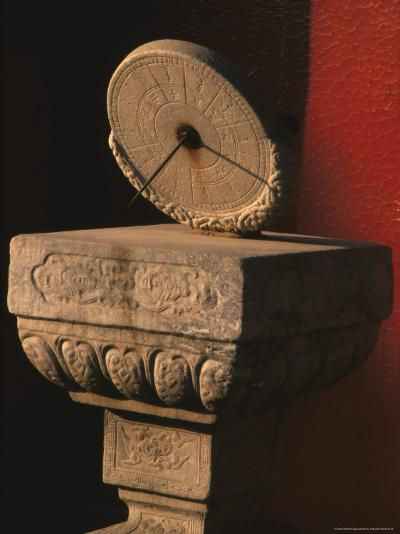 Ancient Marble Sundial, Forbidden City, Beijing, China-Keren Su-Photographic Print