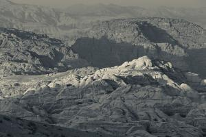 Ancient Nabatean city of Petra with rocky landscape, Wadi Musa, Petra, Jordan