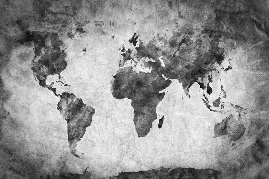 Ancient, Old World Map. Pencil Sketch, Grunge, Vintage Background ...