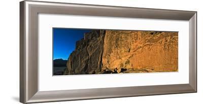 Ancient Petroglyphs in the Atacama Desert's Rainbow Valley-Babak Tafreshi-Framed Photographic Print