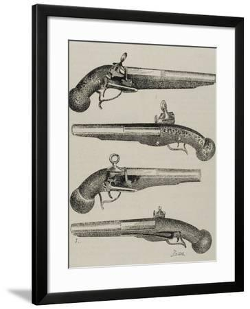 Ancient Pistols. 18Th Century. Engraving.-Tarker-Framed Photographic Print
