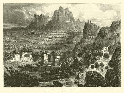 Ancient Quarries and Tampu of Ollantay-?douard Riou-Giclee Print