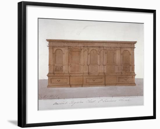 Ancient Register Chest from Southwark Cathedral, London, 1825-G Yates-Framed Giclee Print