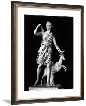 Ancient Sculpture of the Roman Goddess Diana, the Virgin Huntress--Framed Photographic Print