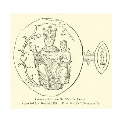 Ancient Seal of St Mary's Abbey--Giclee Print