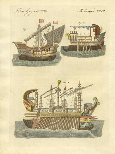 Ancient Ships--Giclee Print