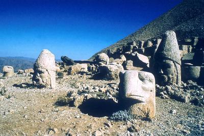 Ancient Stone Heads, Mount Nemrut, Adiyaman, Turkey-Vivienne Sharp-Photographic Print