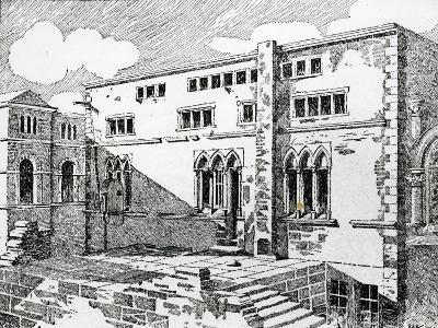 Ancient Synagogue at Metz--Giclee Print