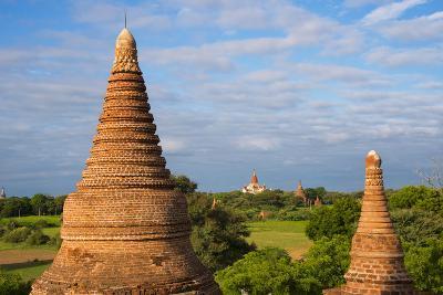 Ancient Temples and Pagodas, Bagan, Mandalay Region, Myanmar-Keren Su-Photographic Print