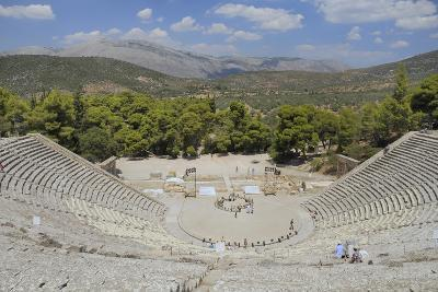 Ancient Theatre of Epidaurus (Epidavros), Argolis, Peloponnese, Greece, Europe-Nick Upton-Photographic Print