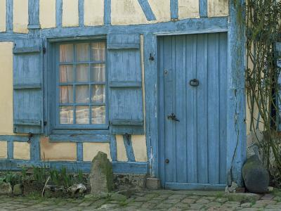 Ancient Timbered House with the Date of 1691 Carved Above Doorway, Gerberoy, Oise, Picardie, France-Tomlinson Ruth-Photographic Print