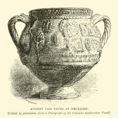 Ancient Vase Found at Jerusalem--Giclee Print