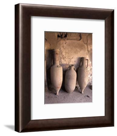 Ancient Wine Clay Vases in a Wine Store Using the Amphora Storage System in Pompeii, Italy-Richard Nowitz-Framed Photographic Print
