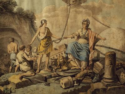 Ancient World Freeing New Free World, Circa 1780-Jean Jacques Francois Lebarbier-Giclee Print