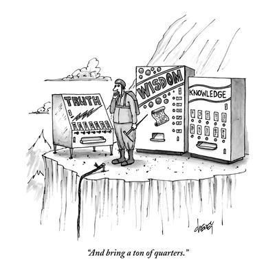 """""""And bring a ton of quarters."""" - New Yorker Cartoon-Tom Cheney-Premium Giclee Print"""