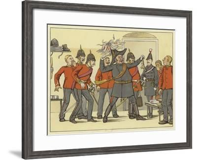 """""""And Hark, What Noise the General Makes!"""" Coriolanus, Act I, Scene 5--Framed Giclee Print"""