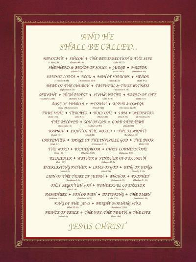 And He Shall Be Called....-The Inspirational Collection-Giclee Print