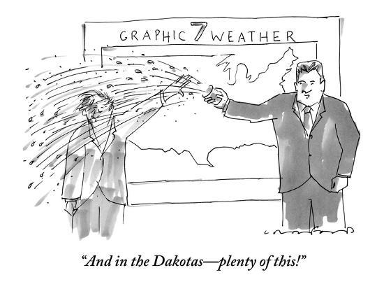 """And in the Dakotas?plenty of this!"" - New Yorker Cartoon-Michael Crawford-Premium Giclee Print"