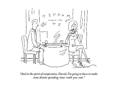 """""""And in the spirit of compromise, David, I'm going to have to make some dr?"""" - Cartoon-Danny Shanahan-Premium Giclee Print"""