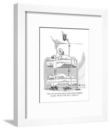 """"""" 'And so the crack-whore princess and her pimp lived happily ever after. ?"""" - New Yorker Cartoon-Jack Ziegler-Framed Premium Giclee Print"""