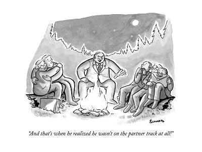 """""""And that's when he realized he wasn't on the partner track at all!"""" - New Yorker Cartoon--Premium Giclee Print"""