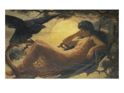 And the Night Raven Sings, Bosom'd High in the Tufted Trees, Where Perhaps Some Beauty Lies-John Scott-Giclee Print
