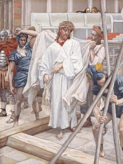 And They Put Him in His Own Raiment for 'The Life of Christ'-James Jacques Joseph Tissot-Giclee Print
