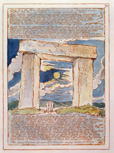 And This the Form of Mighty Hand...', Plate 70 from 'Jerusalem' (Bentley Copy E) 1804-20-William Blake-Giclee Print