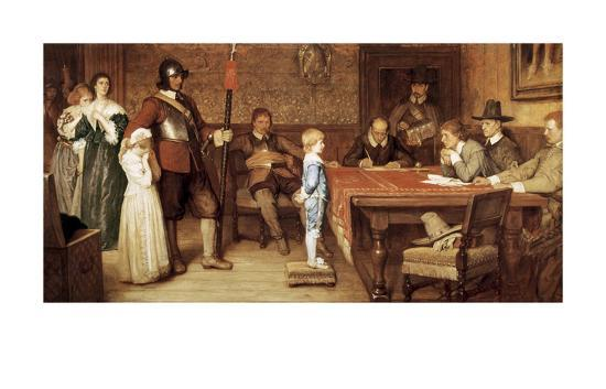 And When Did You Last See Your Father?-William Frederick Yeames-Art Print