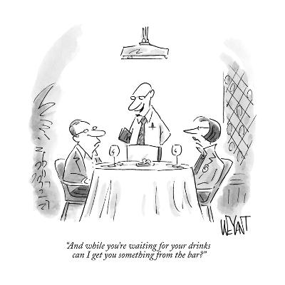 """""""And while you're waiting for your drinks can I get you something from the?"""" - New Yorker Cartoon--Premium Giclee Print"""