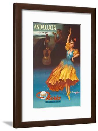 Andalucia - Enjoy Under It's Spell - Iberia Air Lines of Spain-Pacifica Island Art-Framed Art Print