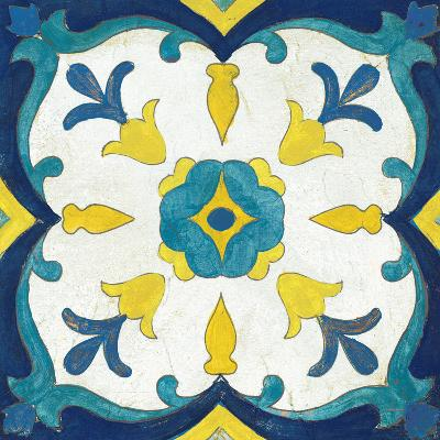 Andalucia Tiles A Blue and Yellow-Silvia Vassileva-Art Print