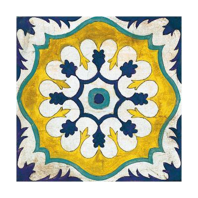 Andalucia Tiles C Blue and Yellow-Silvia Vassileva-Art Print