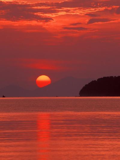 Andaman Sea Glows With Reflected Sunset, Thailand-John & Lisa Merrill-Photographic Print