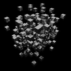 Abstract Background Cubes Explosion On Black by andegro4ka