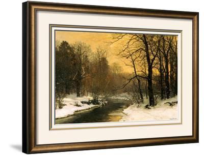 A Winter River Landscape