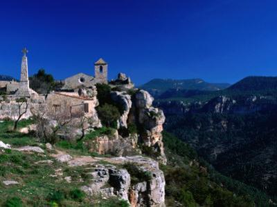 Church in Cliff-Top Village, Siurana, Catalonia, Spain