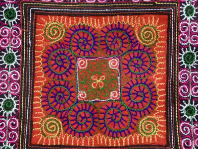 Close-Up of Coloured Tribal Textile