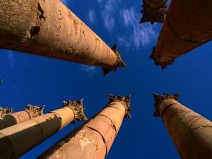 Columns at Temple of Artemis, Jerash, Jordan by Anders Blomqvist