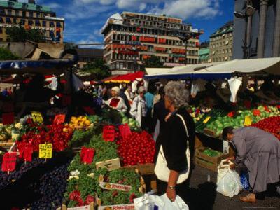 Hotorget Market, Stockholm, Sweden