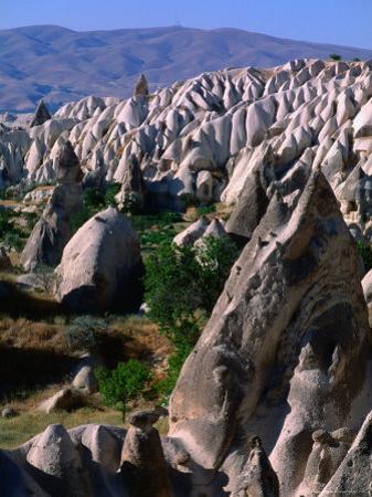 Layers of Volcanic Tuff Near Goreme, Cappadocia, Turkey