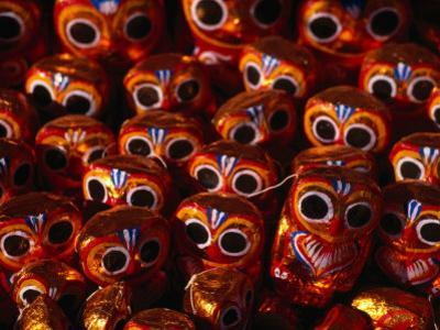 Papier Mache Owls for Sale, Bagan, Mandalay, Myanmar (Burma)