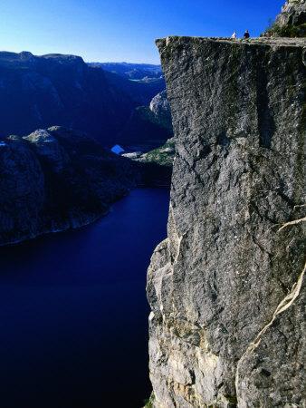 Preikestolen 600M Above Lysefjord, Lysefjord, Rogaland, Norway
