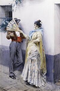 Flirtation, 1885 by Anders Leonard Zorn