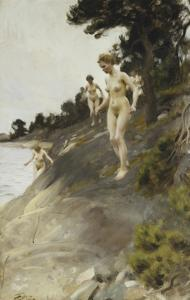 Frightened by Anders Leonard Zorn